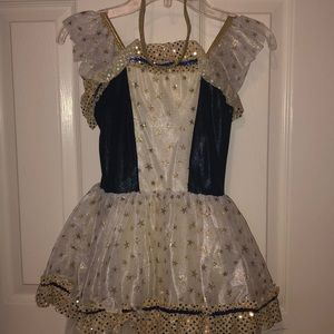 Navy and gold stared girl's costume